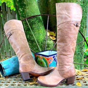 FRYE Over The Knee Knee High Fold Over Tall Boots